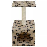 vidaXL Árvore para gatos c/postes arranhadores sisal 55 cm bege