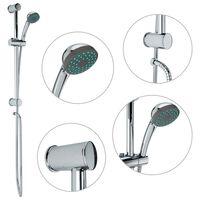 vidaXL Conjunto barra de duche com chuveiro de mão metal