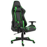 vidaXL Cadeira de gaming giratória PVC verde