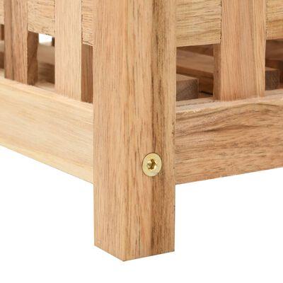 vidaXL Suporte p/ guarda-chuvas madeira de nogueira maciça 18x18x50 cm