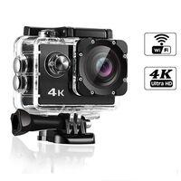 Câmera de ação 4K WiFi com acessórios
