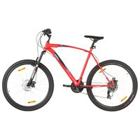 vidaXL Mountain Bike 21 Speed 29 inch Wheel 53 cm Frame Red (92337+92342)