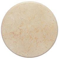 vidaXL Tampo de mesa Ø50x2,5 cm mármore cor creme