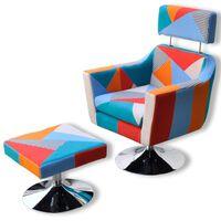 vidaXL Poltrona de TV tecido com design de retalhos