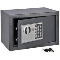 HI Cofre com fechadura elétrica 31x20x20 cm cinzento-escuro