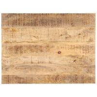vidaXL Tampo de mesa madeira de mangueira maciça 25-27 mm 90x70 cm