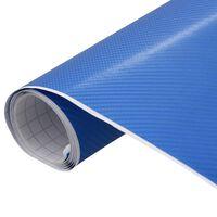 vidaXL Película para carro 4D 500x152 cm azul fosco