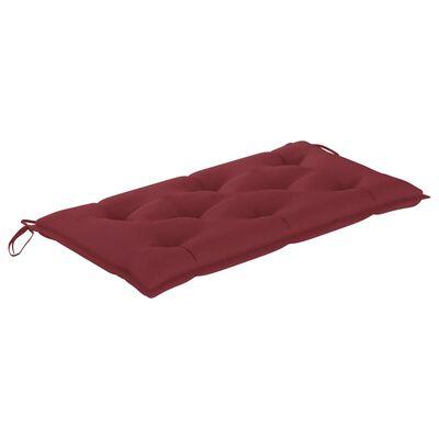 vidaXL Almofadão para cadeira de baloiço 100 cm tecido vermelho tinto