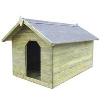 vidaXL Casota para cão com telhado de abrir pinho impregnado