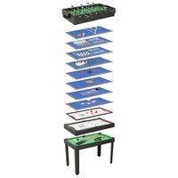 vidaXL Mesa de jogos 15-em-1 121x61x82 cm cor preto