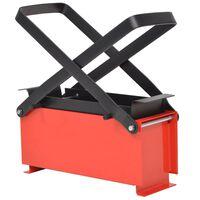 vidaXL Prensa de briquetes de papel em aço 34x14x14 cm preto/vermelho