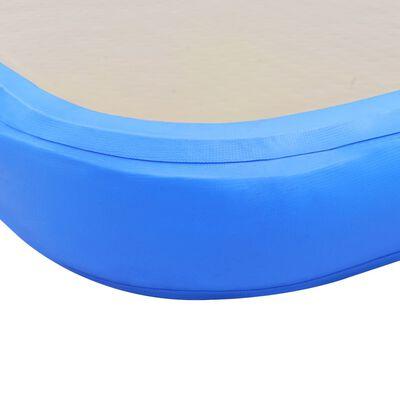 vidaXL Colchão de ginástica insuflável c/ bomba 400x100x10 cm PVC azul