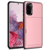 Tampa Samsung S20 Com Slot Para Cartão Tpu / Pc Pink