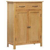 vidaXL Sapateira 76x37x105 cm madeira de carvalho maciça
