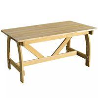vidaXL Mesa de jardim 150x74x75 cm madeira de pinho impregnada