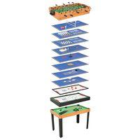 vidaXL Mesa de jogos 15-em-1 121x61x82 cm cor ácer