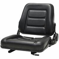 vidaXL Assento de trator e empilhadeira com encosto ajustável preto