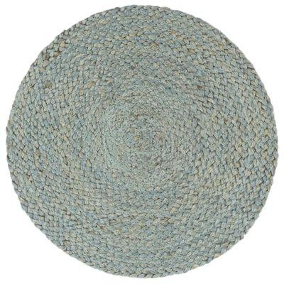 vidaXL Individuais mesa 6 pcs juta liso 38 cm redondo verde azeitona