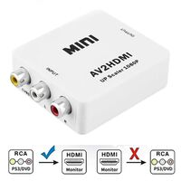 Adaptador conversor Cinch para HDMI - branco