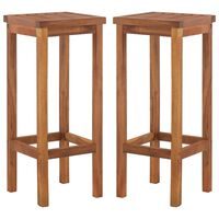 vidaXL Cadeiras de bar 2 pcs madeira acácia maciça