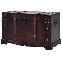 vidaXL Arca/baú vintage em madeira 66x38x40 cm