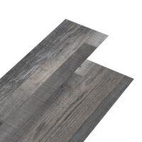 vidaXL Tábuas de soalho PVC autoadesivo 4,46m² 3mm madeira industrial