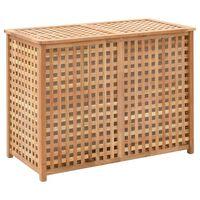 vidaXL Cesto para roupa suja 87,5x46x67 cm madeira de nogueira maciça