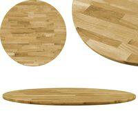 vidaXL Tampo de mesa madeira de carvalho maciça redondo 23 mm 700 mm