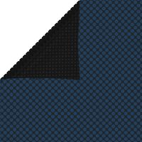 vidaXL Película p/ piscina PE solar flutuante 975x488 cm preto e azul