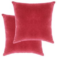 vidaXL Almofadões veludo de algodão 2 pcs 45x45 cm rosa