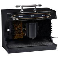 vidaXL Máquina engraxar calçado elétrica totalmente automática preta