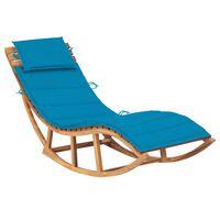 vidaXL Espreguiçadeira de baloiçar com almofadão madeira teca maciça