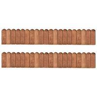 vidaXL Bordaduras em rolo 2 pcs 120 cm madeira de pinho impregnada