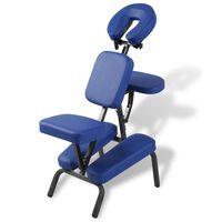 vidaXL Cadeira de massagens dobrável e portátil azul