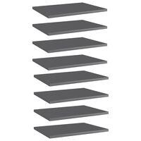 vidaXL Prateleiras para estante 8 pcs 40x30x1,5cm contraplacado cinza