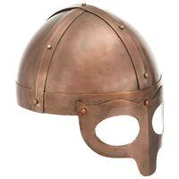 vidaXL Capacete soldado viking réplica LARP aço cobre
