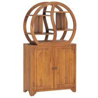 vidaXL Móvel c/ prateleira Yin Yang 70x30x130cm madeira de teca maciça