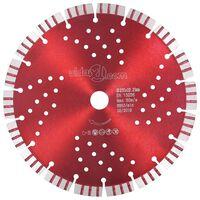 vidaXL Disco de corte de diamante com turbo e orifícios aço 230 mm