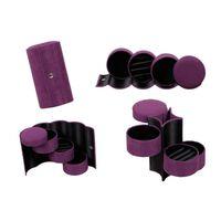 Caixa para joias com 3 gavetas - roxa