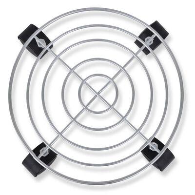 Suporte de metal com rodas para vasos dolly 6 peças