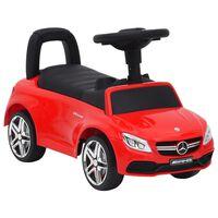 vidaXL Andador carro Mercedes Benz C63 vermelho