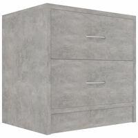 vidaXL Mesa de cabeceira 40x30x40 cm contraplacado cinzento cimento