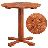 vidaXL Mesa de bistrô 70x70 cm madeira de acácia sólida