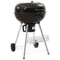 vidaXL Barbecue a carvão 73x58x96 cm aço