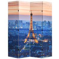 vidaXL Biombo dobrável Paris à noite 160x170 cm