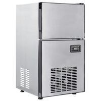 vidaXL Máquina de fazer cubos de gelo 420 W 50 kg/24 h
