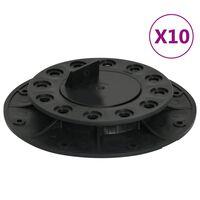 vidaXL Pés ajustáveis para pavimento 10 pcs 20-30 mm