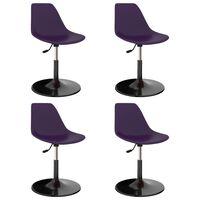 vidaXL Cadeiras de jantar giratórias 4 pcs PP lilás