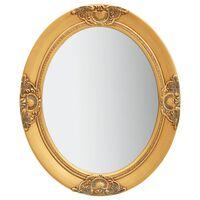 vidaXL Espelho de parede estilo barroco 50x60 cm dourado