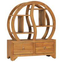 vidaXL Móvel com prateleira Yin Yang 68x26x83cm madeira de teca maciça